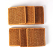 Directionality - Square Bamboo Coaster Set