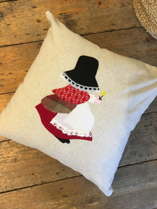 Handmade Welsh Lady Cushion