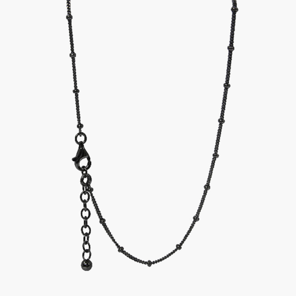 Sterling Silver Necklace With Black Rhodium