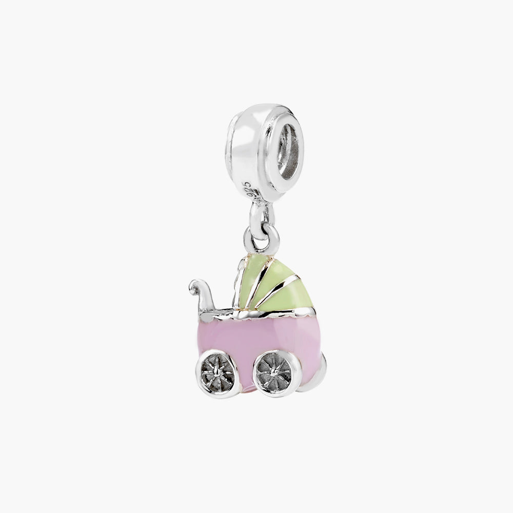 Baby Carriage Dangle Bead