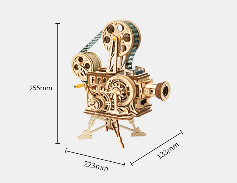 3D Mechanical Wooden Puzzle Film Projector Vitascope - LK601