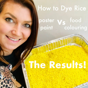 How To Dye Rice: The Experiment
