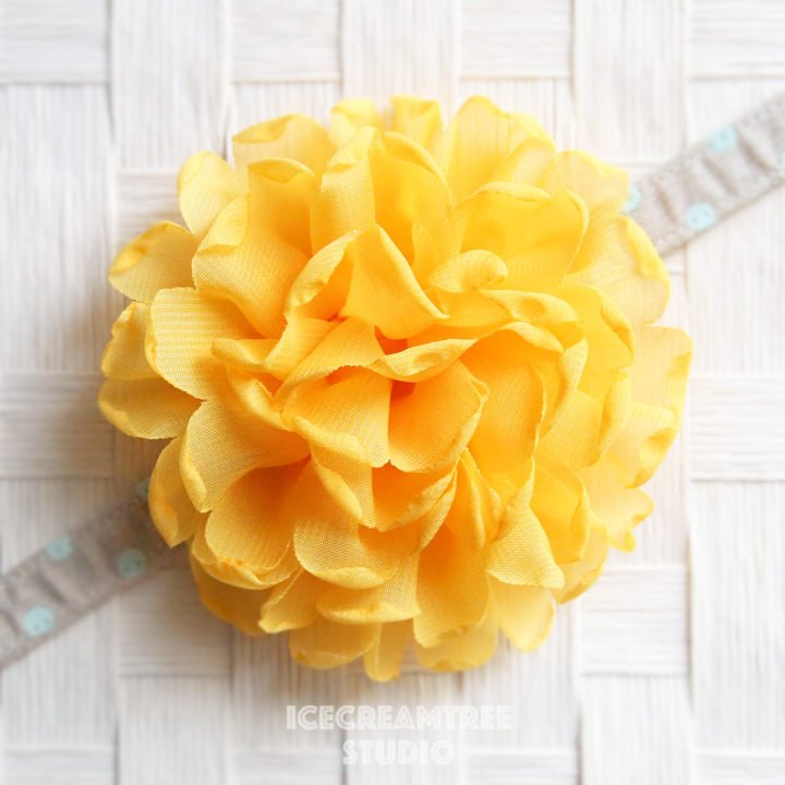Giant Yellow Bloom Collar Slide On - Large Flower Collar Accessory