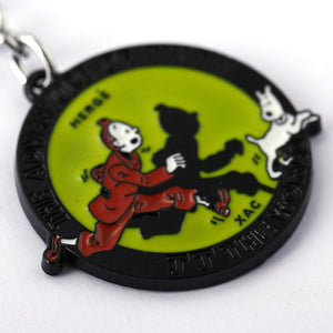 Tintin And Snowy Antique Metal Keychain