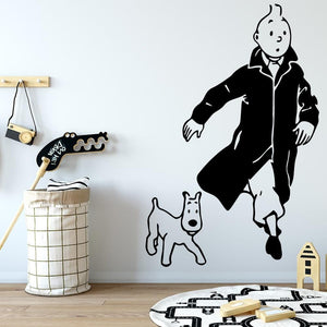 Tintin And Snowy Vinyl Wall Sticker