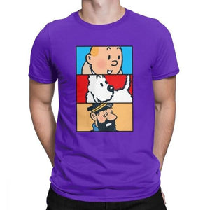 Soft 100% Cotton T-Shirt - Tintin Snowy Haddock