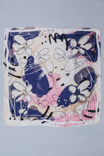 "Load image into Gallery viewer, Darling Down South x Hannah Betzel 100% Silk Scarf ""First Impression"""