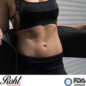 Roht Active Waist Trimmer and Fat Burner Abdominal Belt - Large
