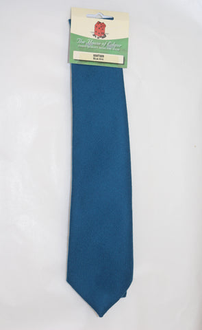 Mens House of Edgar Woollen Tie - Ancient Blue