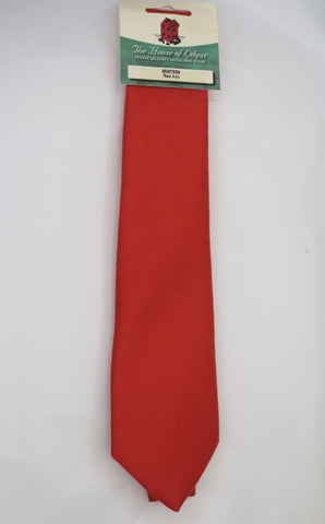 Mens House of Edgar Woollen Tie - Ancient Red