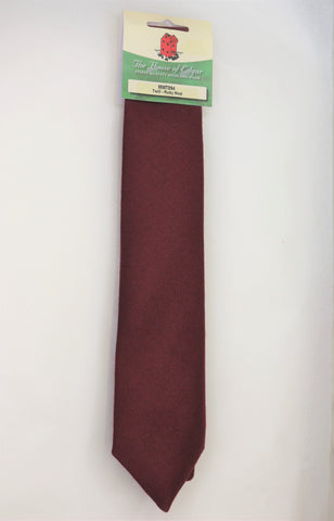 Mens House of Edgar Woollen Tie - Burgundy