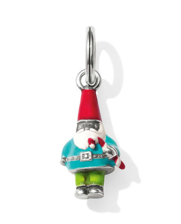 Brighton Christmas Gnome JC4563 with a cute Christmas gnome charm holding a candy cane