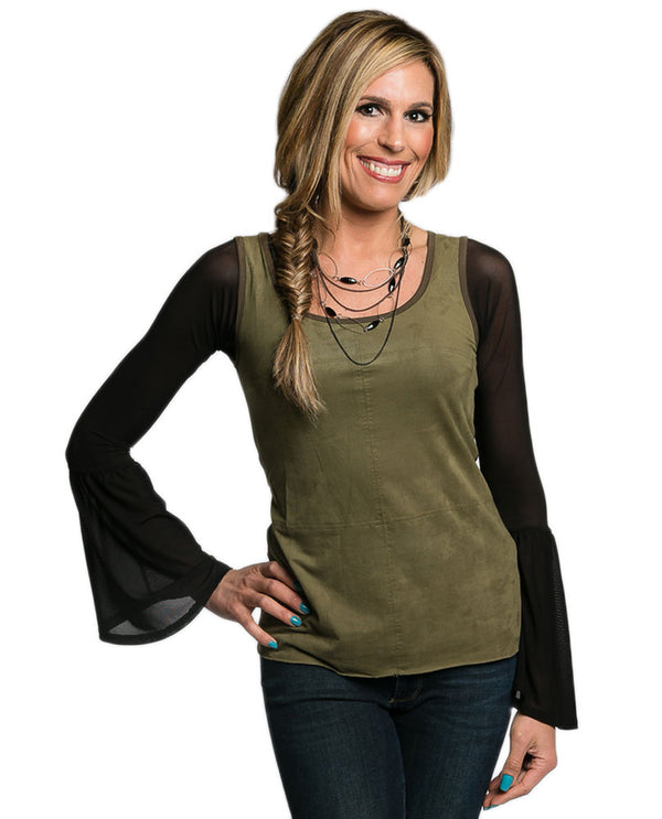 Sleevey Wonders S40703 Mesh Long Bell Sleeves