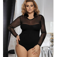 Long Sleeve Sheer Top Teddy