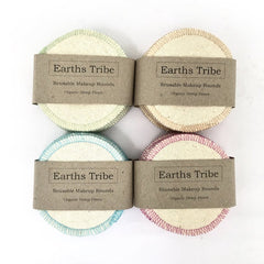 Earths Tribe Reusable Makeup pads Organic Hemp and cotton