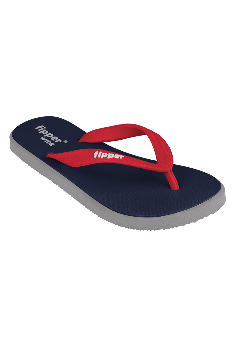 Fipper Wide Navy / Grey (Light) / Red