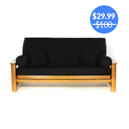 Black Futon Cover