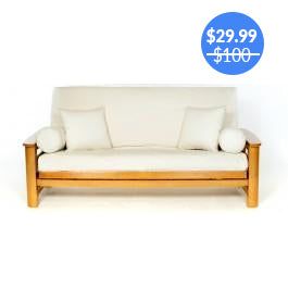 Natural Ivory Futon Cover