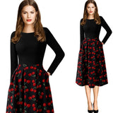 Autumn Winter Elegant Skater Dress