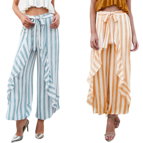 High Waist Wide Leg Pants  Beach loose Trousers