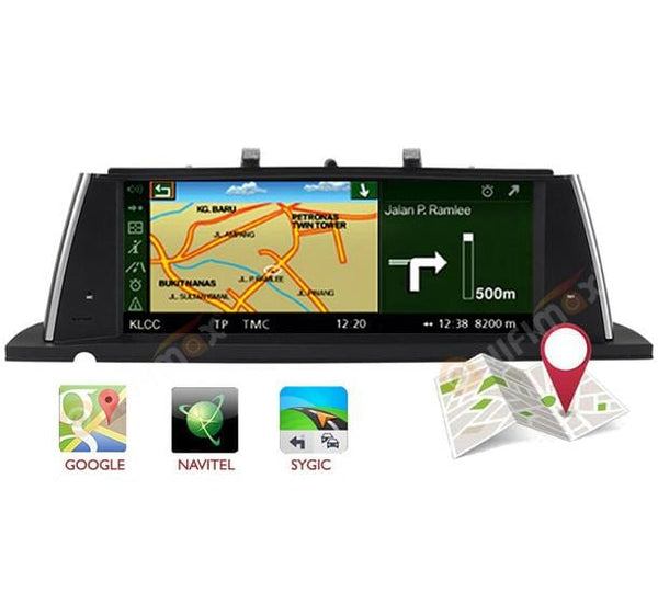 BMW 5 series navigation support google map,waze etc