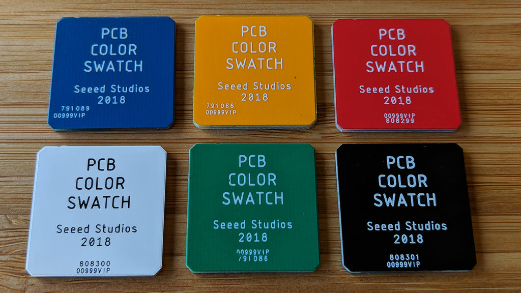 Brian Benchoff's PCB color swatches from Seeed