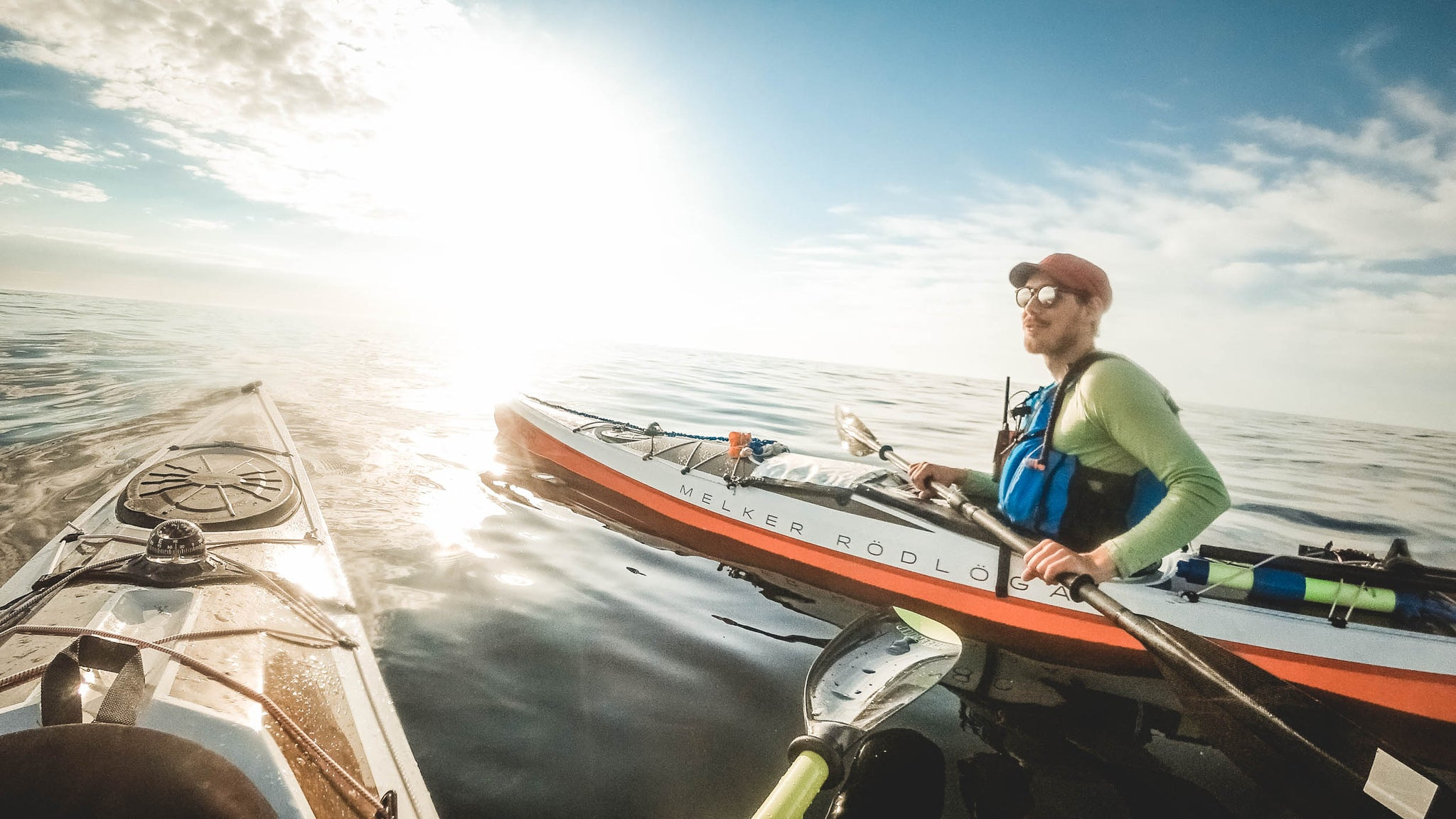Linda & Emil paddled 60km over open sea, from Öland to Gotland.