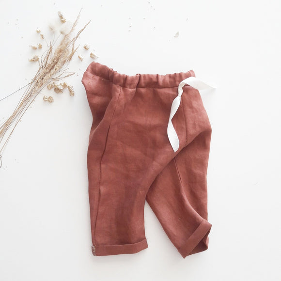 Pantalon en lin érable