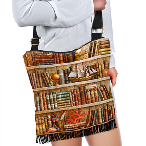 Book Reader Crossbody Boho Bag V.3
