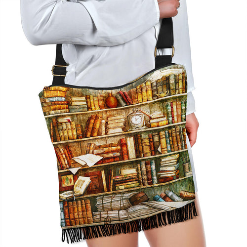 Book Reader Crossbody Boho Bag V.4