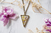 Real Pressed Flowers in Resin Necklace Purple Yellow Mix - kdthreads