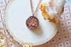 Real Pressed Flowers in Resin Necklace, Thick Copper Circle in  Rose Gold Mix - kdthreads
