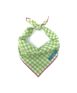 Gingham Bandana, Lime and White Checkers, Dog Bandana, Hot Pink, Watermelon Bandana, Dog Neck Accessories