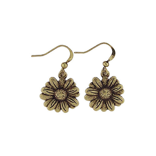 Shop LAVISHY vintage style daisy flower & joy earrings. Wholesale available at www.lavishy.com along with other unique & meaningful fashion jewelry that will make thoughtful gifts.