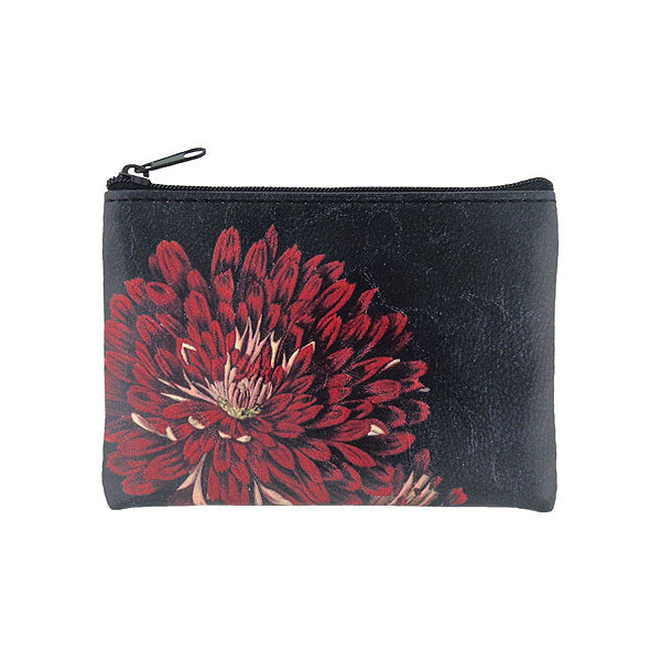 Shop PETA approved vegan brand LAVISHY's vegan/faux leather vintage style chrysanthemum flower print vegan coin purse. It's a great gift idea for you or your friends & family. Wholesale available at www.lavishy.com with many unique & fun fashion accessories.
