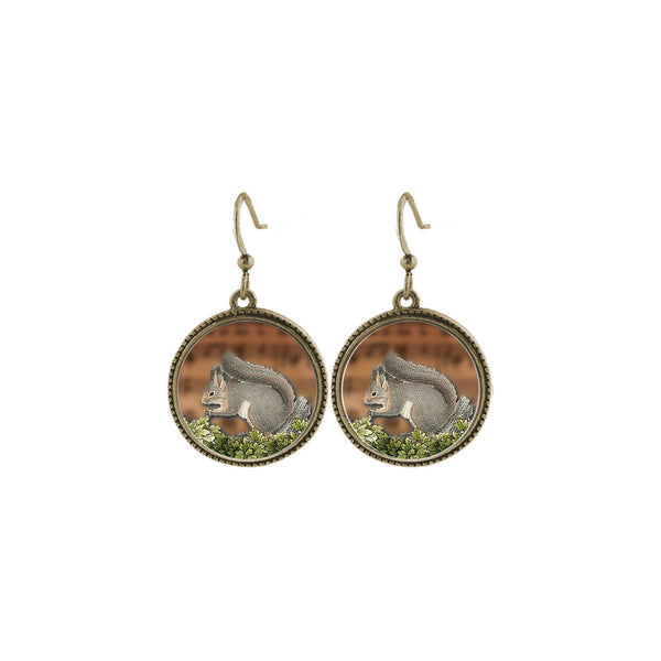 Shop LAVISHY's unique, beautiful & affordable vintage style handmade squirrel earrings. A great gift for you or your girlfriend, wife, co-worker, friend & family. Wholesale available at www.lavishy.com with many unique & fun fashion accessories.