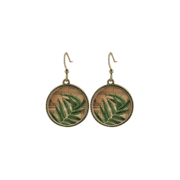 Shop LAVISHY's unique, beautiful & affordable vintage style fern earrings. A great gift for you or your girlfriend, wife, co-worker, friend & family. Wholesale available at www.lavishy.com with many unique & fun fashion accessories.