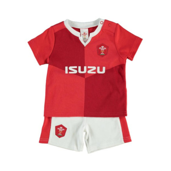 Wales WRU Rugby Baby/Toddler T-shirt & Shorts Set | Red | 2019/20