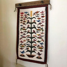 "Load image into Gallery viewer, Rug Hanger 18"" dark walnut stained oak"