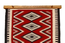"Load image into Gallery viewer, Navajo rug hanger 36"" medium stained oak"