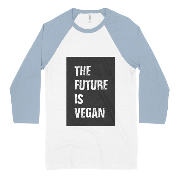 The Future Is Vegan colour block baseball shirt - kids