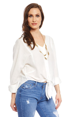Astor Tie Front Blouse