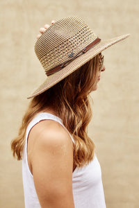 Wide Brim Wicker Hat