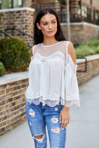 Bianca Cold Shoulder Blouse