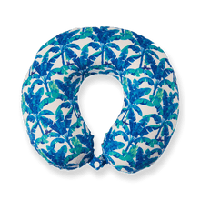 Load image into Gallery viewer, Midnight Jungle Travel Pillow - Blue, Bon Voyage Memory Foam Cushion Neck Pillows Removable Washable Cover