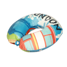 Load image into Gallery viewer, World Edition Travel Pillow - London Blue, Bon Voyage Memory Foam Cushion Neck Pillows Removable Washable Cover