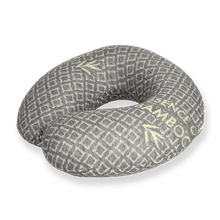 Load image into Gallery viewer, Bamboo Travel Pillow - Black, Hypoallergenic Washable Memory Foam Bon Voyage