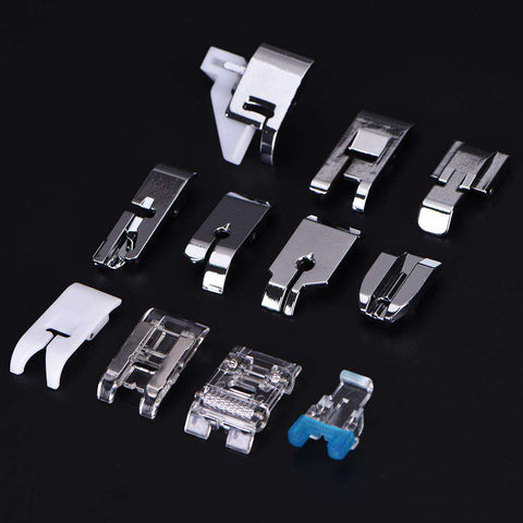 11 Pcs Iron Zipper Foot Sewing Machine Feet Multi-Function Sewing Machine Presser Foot Set Sewing Tools