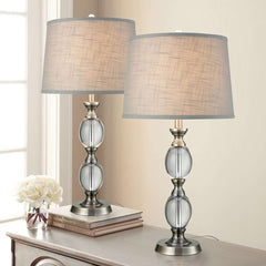 Bridgeport Designs Crystal Table Lamp, 2 PackBridgeport Designs Crystal Table Lamp, 2 Pack