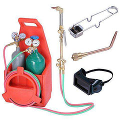 ReaseJoy Professional Portable Welding Brazing Cutting Outfit Torch Tool Kit w/Refillable Acetylene Oxygen Tanks